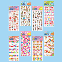 Besegad 20 Sheet Removable Cute Kawaii Fish Cartoon 3D Bubble Sticker School Teacher Reward Kids Children Toys Gifts Mix Style(China)