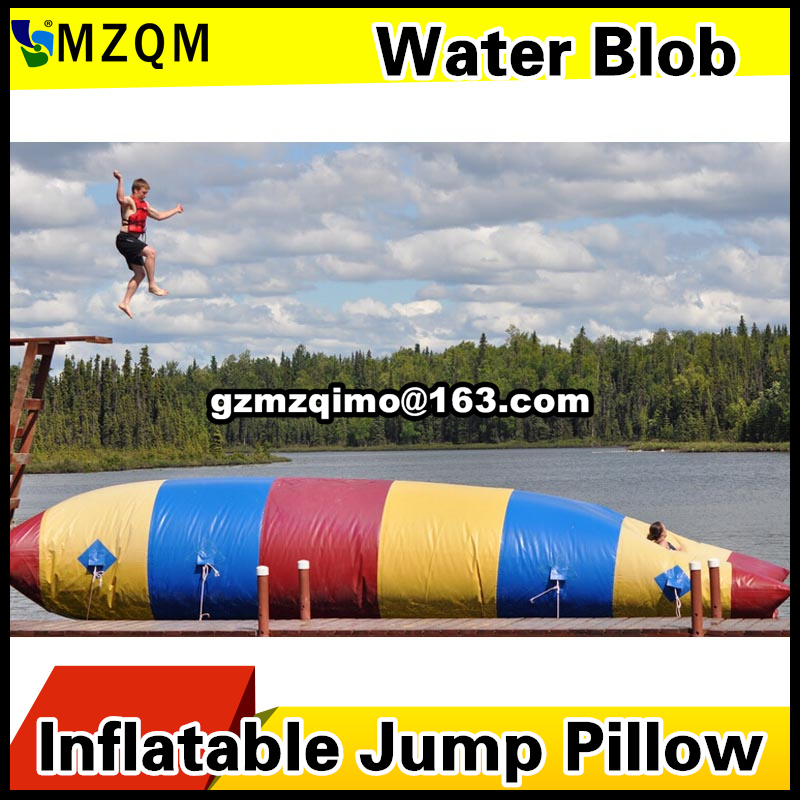 Free Pump 5x2m Water Games Inflatable Water Catapult Blob