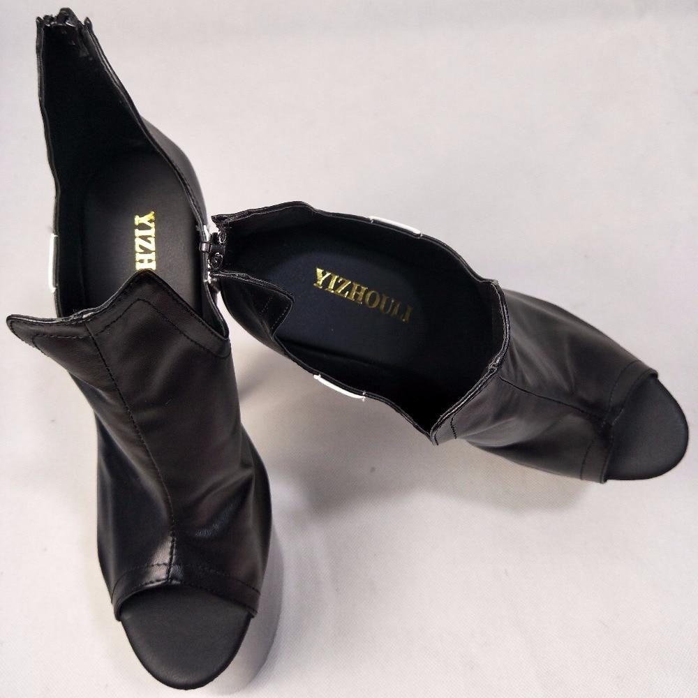 Unique Options Blanc Haute Cm 20 Frappent Mariage Noir blanc Chaussures Talons Mariée Poissons Deux Les Bouche La Dans De Noir 5nqp7TBR
