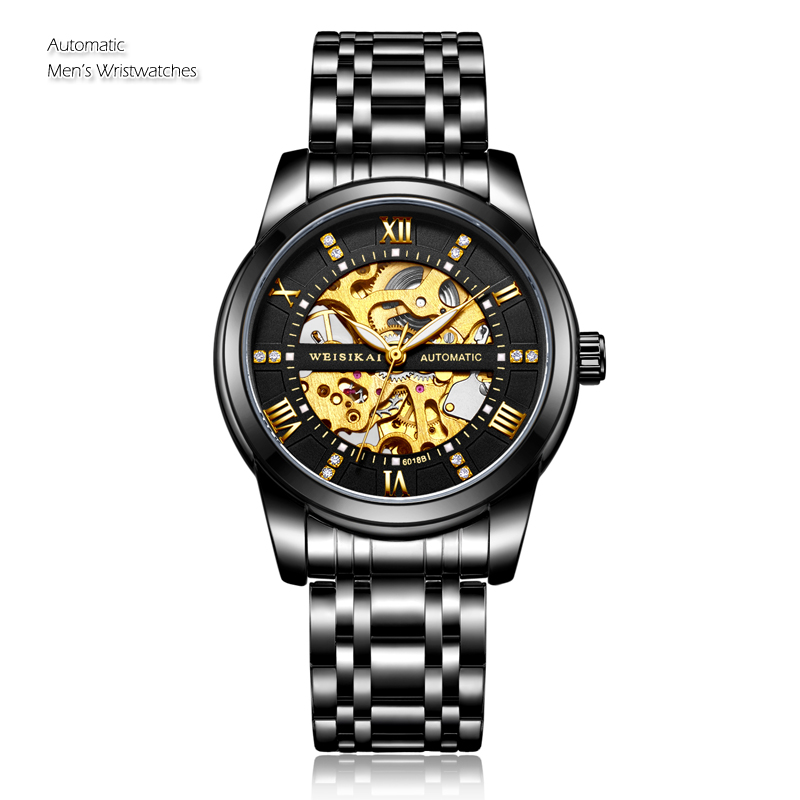 Automatic Mechanical Watch Top Brand Wristwatch Men Watches Fashion Skeleton Watch Male Tourbillon Clock Gold Relogio Masculino