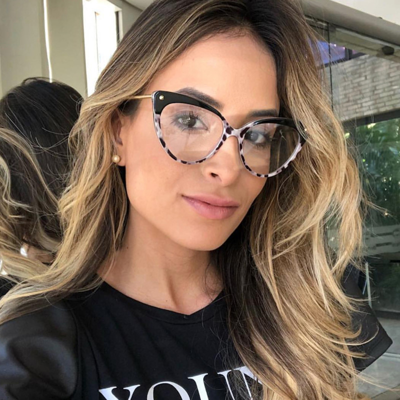 High Quality Anti-Blue Light Glasses Women Fashion Cat Eye Glasses Relieve Eye Fatigue Computer Goggles Ultralight Optical Frame