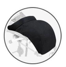 Épaissir Chaud jambe couverture 3 couleurs noir chancelière anti-froid pieds couverture pour bébé poussette