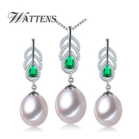 Amazing Price Beautiful AAAA Natural Pearl Jewelry Set With 9 10mm High Luster Pearl White Pink
