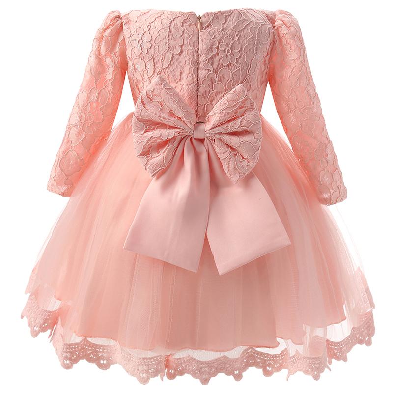 Winter Newborn Baby Dresses Clothes For Girls Pink Tulle Dress Baby Girl 1st Birthday Outfits Infant Party Dress 12 24 Months