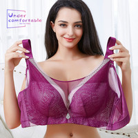 2019 Summer Ultra Thin Lace Plus Size Push UP Women's Bras Wide Shoulder Straps Super Soft Comfortable Health Sexy Bra