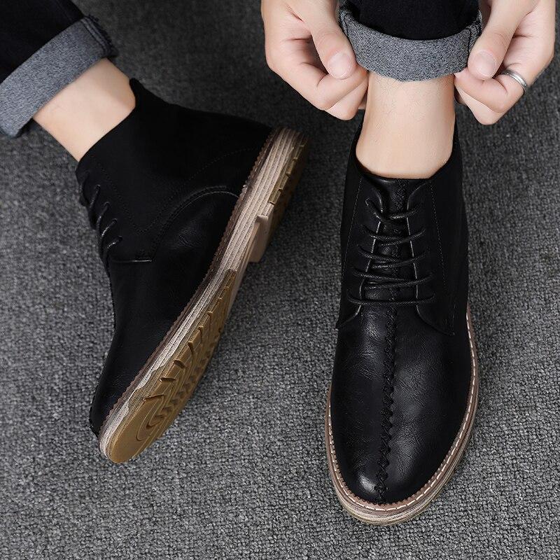 2019 Casual Männer Schuhe Winter Schnee Stiefel Mit Warme Casual Schuhe Männer Britischen Retro Stil Mode Stiefel Schuhe Hh-908