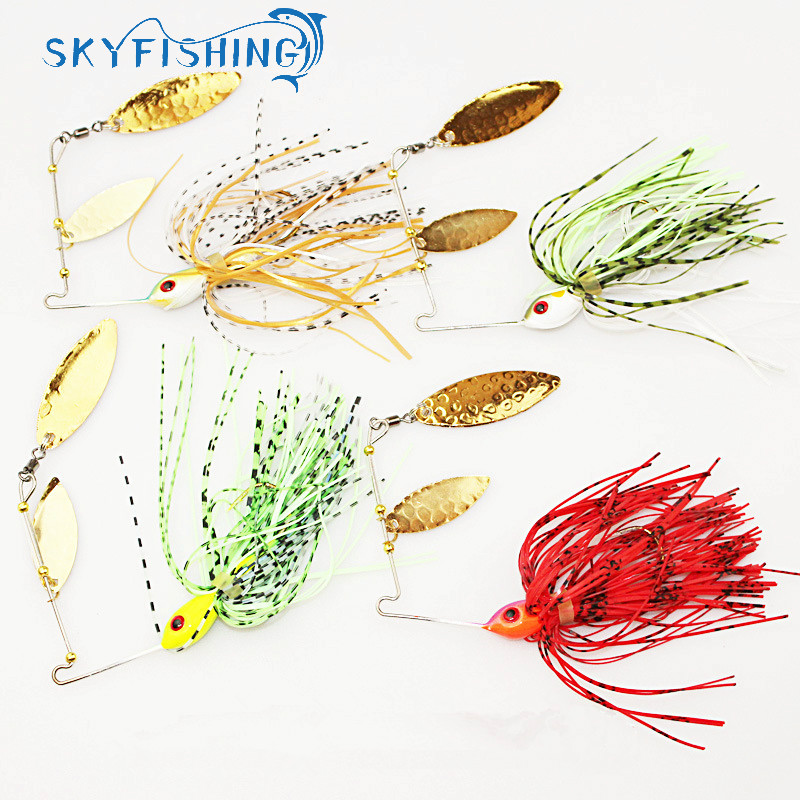 4pcs/lot spinner bait 18G metal lure hard fishing lure Spinner Lure Spinnerbait Pike swivel Fish tackle wobbler free shipping fishing lure kit metal lure soft bait plastic lure wobbler frog lure free shipping