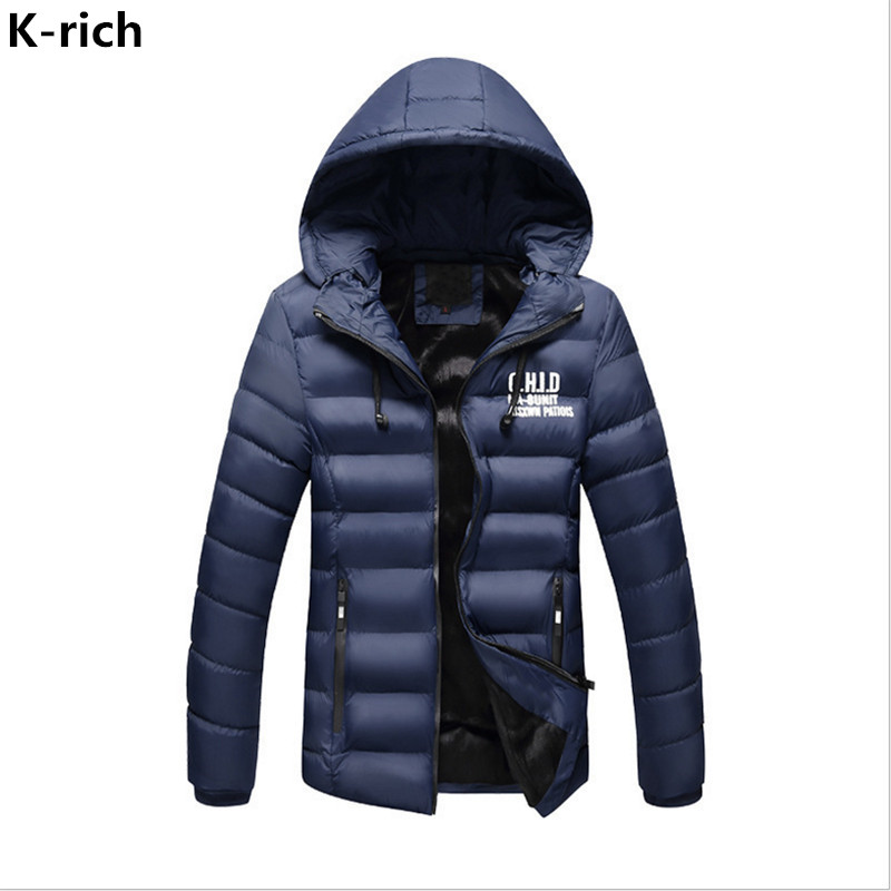 K-rich Winter Plus Fleeve Warm Jacket Men Park Printed Thick Loose Hooded Parka Man Jacket Coat  L-3XL Plus Size Male's Coat boglioli k jacket пиджак