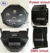 4x Led Par Light 7X10W 4in1 RGBW Led Slim Par Can Strobe Laser DMX DJ Disco Professional Stage Lighting Sound Party Equipment