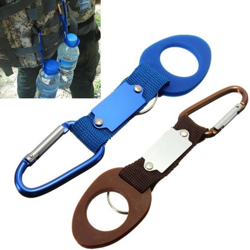 For Outdoor Camping Aluminum Carabiner Water Bottle Holder Colorful Hiking Rope Buckle Hook Carabiners