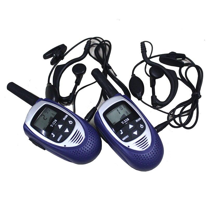 2 pcs mini 22 canaux talkie walkie interphone T228 De Poche 500 mètres talkie walkie téléphone FRS GMRS mobile radio jouet pour enfants