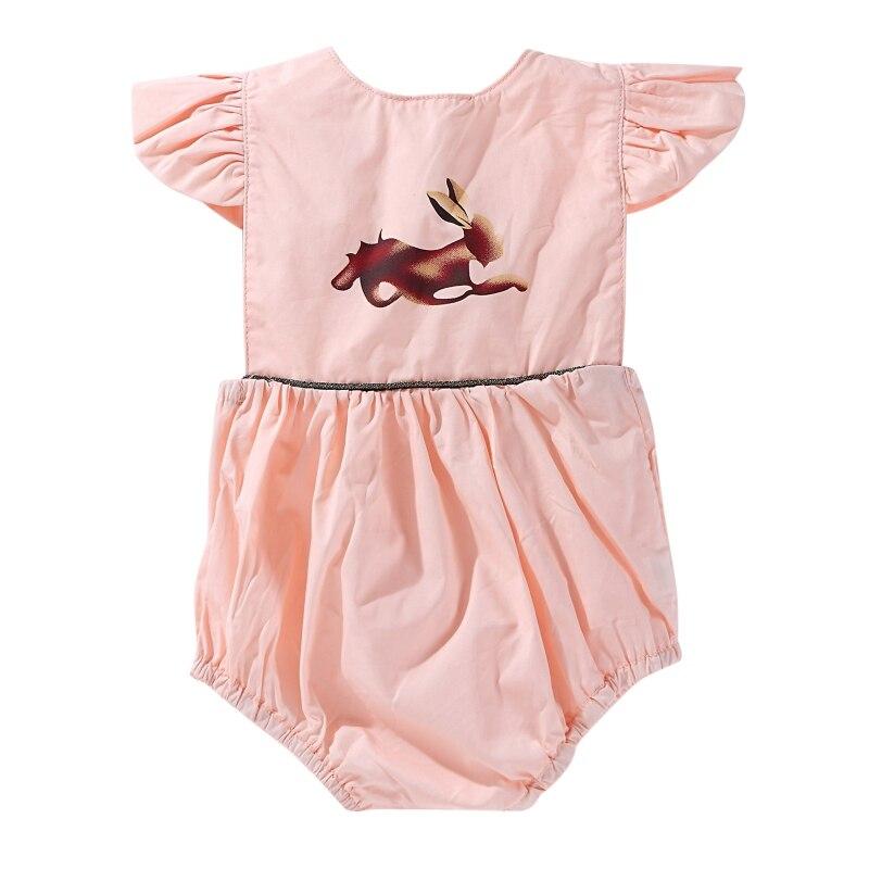 2018 Summer Hot Sale Baby Girls Cute Jumpsuit Infant Kids Ruffle Sleeve Cartoon Bodysuit Newly Newborns Clothing For 0-24M LQ
