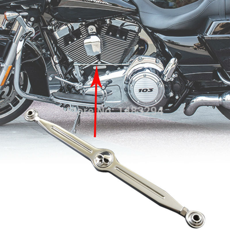 Chrome Skull Craneo Shift Linkage Clutch Parts Fits fits for Harley Ultra Classic Tour Electra Tri Glide CVO Softail Custom Cran motorcycle black cnc gear shift lever shift linkage 220cm fits for 883 harley with logo custom fat boy flstfse cvo electra glide