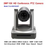 2mp 1080 p/60fps Zoom 10x plug and play USB2.0 USB 3.0 câmera ptz ip de streaming ao vivo no interior com Saída HDMI