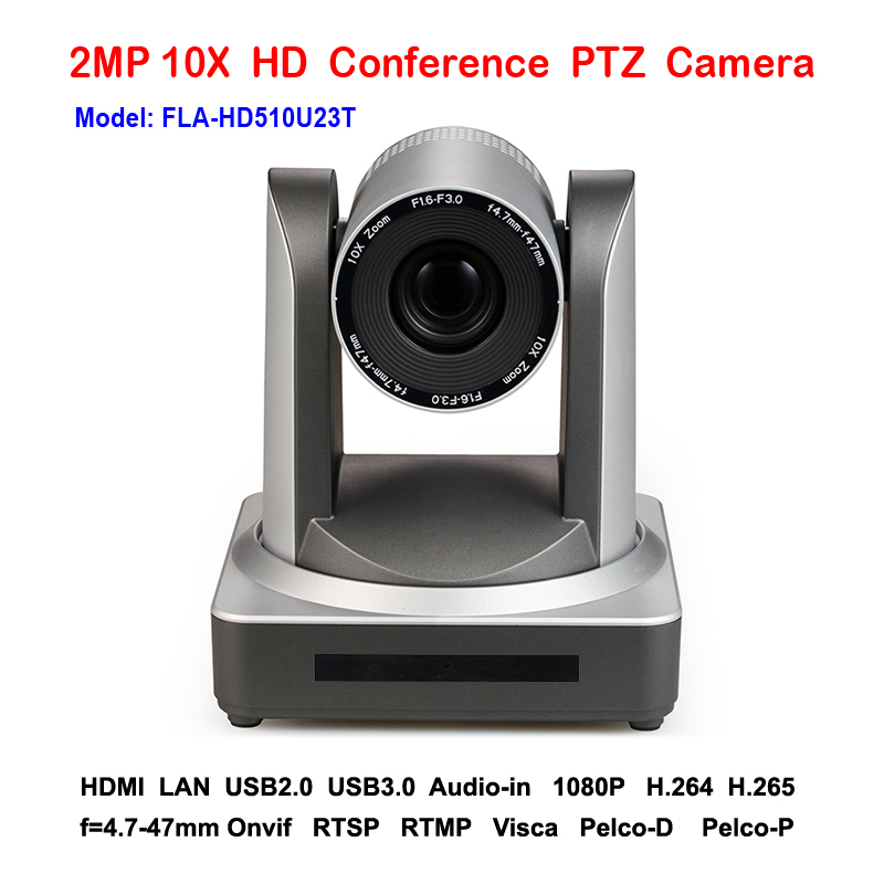 2mp 1080p/60fps 10x Zoom plug and play USB2.0 USB 3.0 ptz ip camera live streaming indoor with HDMI Output
