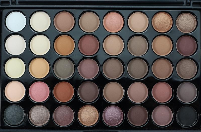 профессиональный бренд макияж много блеск матовый тени для век 40 цвет водонепроницаемый бронзатор палитра теней для век ню косметика