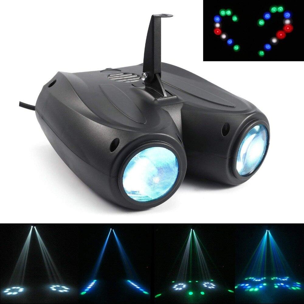 Auto/son activé 128 LED s RGBW lumières contrôle de la musique LED effet de scène éclairage DJ Disco lumière Laser lampe partie projecteur Bar