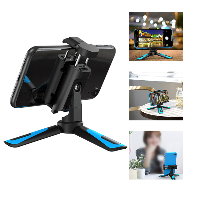 APEXEL 360 Rotation Vertical Shooting 2 in 1 Mini Tripod Phone Mount Holdr for iPhone Xs Max Xs X 8 7 Plus Samsung S8 S9 3