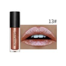 1 шт. Алмазный металлический блеск для губ Набор Жидкий водонепроницаемый 24 H стойкая глянцевая краска для губ сексуальная пигментная косметика