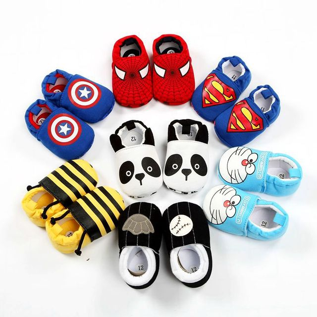 2018New Baby Infant Superman Bee Shoes Soft 0-18M Boys Girls Casual Shoes Fashion Shoes Spring Autumn Fashion Baby First Walker