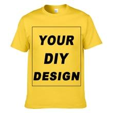 dd9cf9cd LIE XING Customized T Shirt Your Own Design DIY Cotton T-Shirt For Men no  glue print