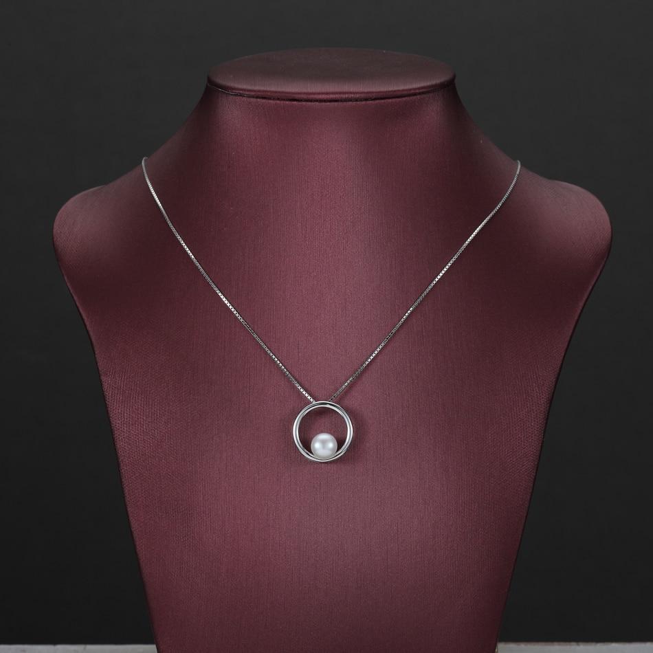 Klassische Einfache Natürliche Perle Anhänger Halsketten für - Edlen Schmuck - Foto 4