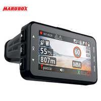 Zeniss hotsale marubox câmera do carro dvr detector de radar gps registador 3in1 hd1296p 170 graus gravador de vídeo do carro para a rússia m610r