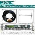 FMUSER 150 Вт fm-передатчик с 1/2 волны дипольных антенн и 20 метров-5 кабель комплект