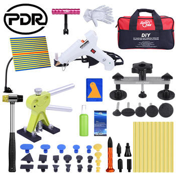 PDR Auto Car Body Remover Kit Dent Puller Repair Tool UK Glue Gun Rubber Hammer Line Board for Auto  Repair car dent removal kit