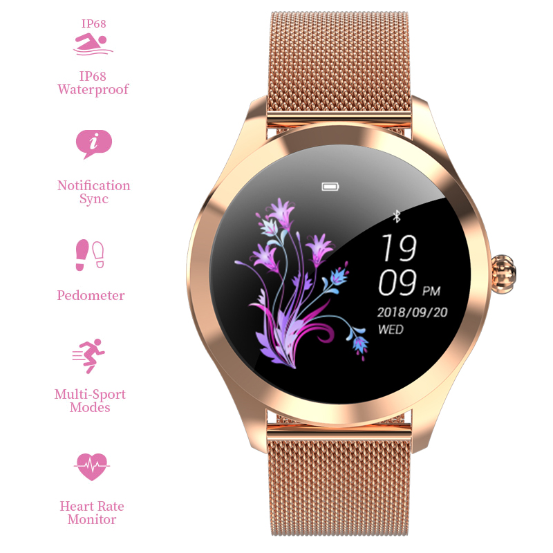 Smart Watch Feminino Heart Rate Pedometer Blood Pressure IP68 Waterproof Bluetooth Watch Female Smartwatch for Android IOS