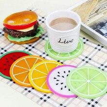 Cup Mat Pad Coaster Fruit Shape Silicone Slip Insulation Hot Drink JJJCD72