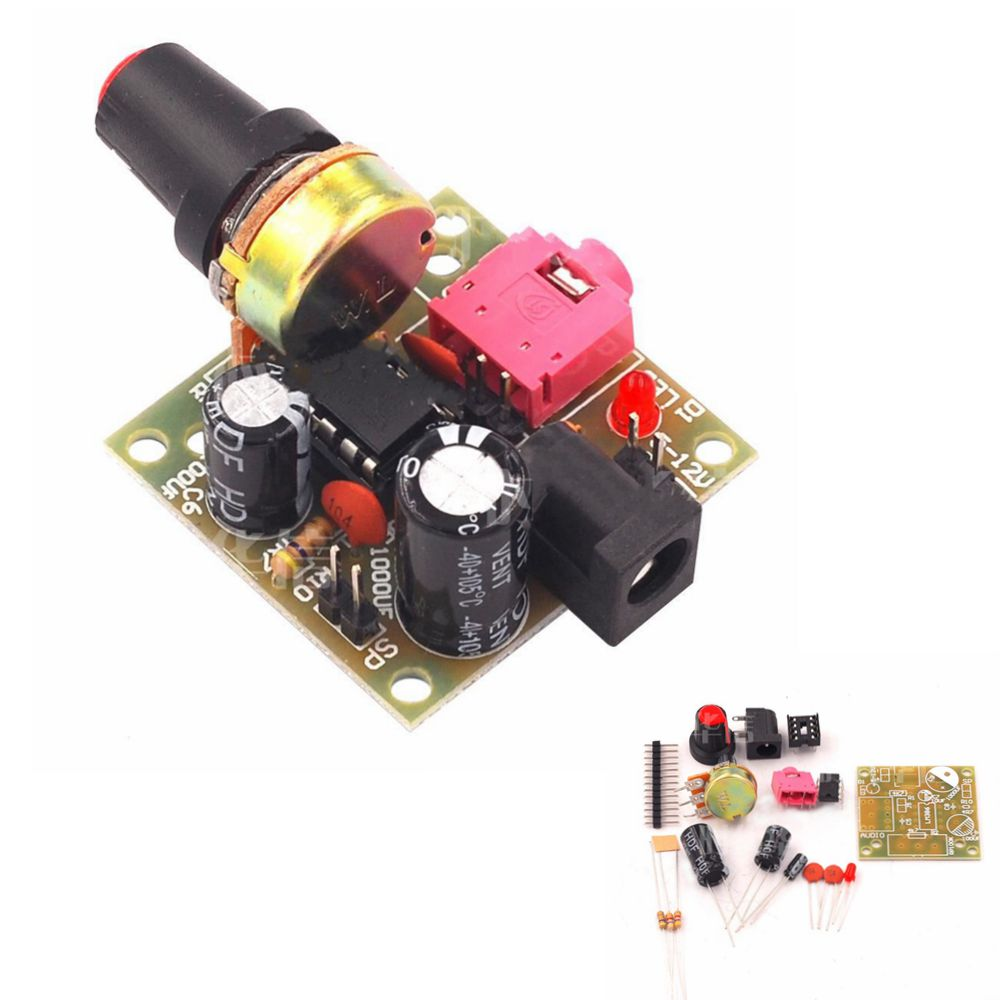 AU LM386 Mini Audio Modules 3~12V Electronic Power Amplifier Board DIY Kit