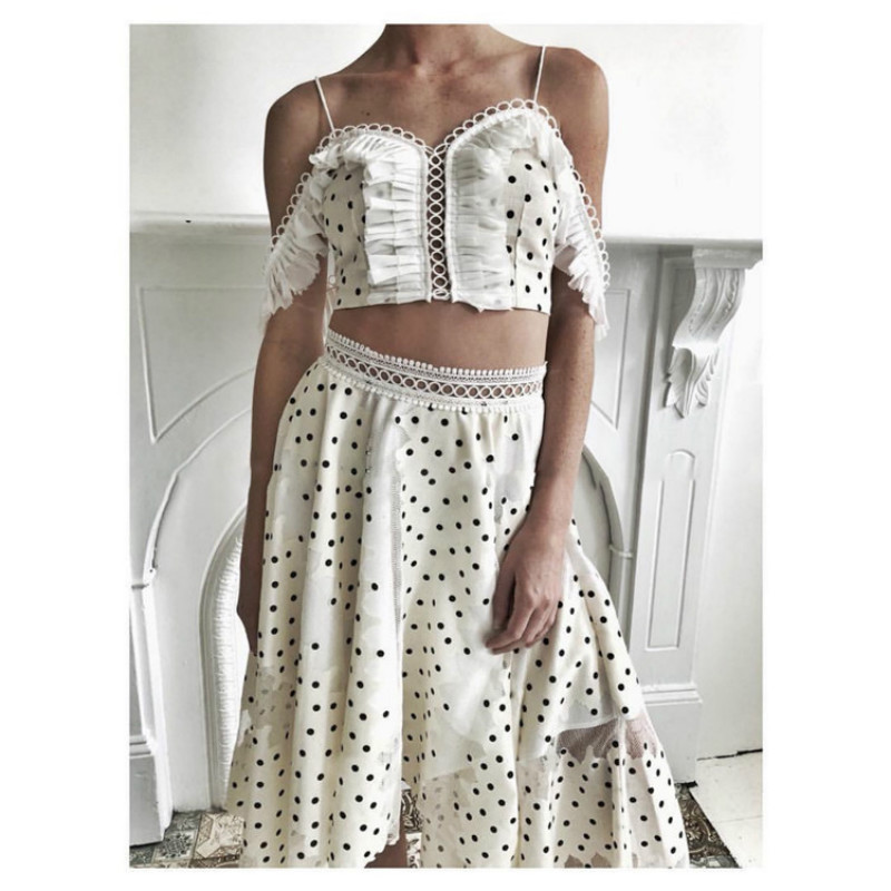 2019 Fashion Women White Off The Shoulder Short Blouse And Mermaid Skirts Women Sets