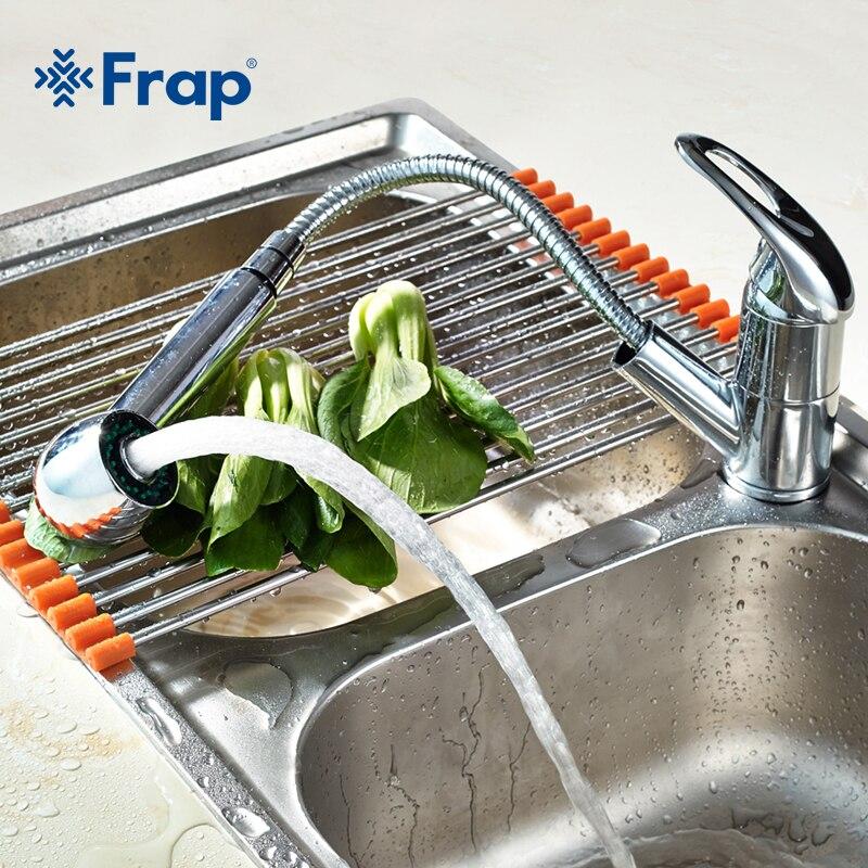 FRAP nouvelle Cuisine Robinets 360 Degrés Pivotant Pull Out Kitchen Sink Robinet D'économie D'eau Bassin Grue Mélangeur En Laiton Robinet F6003