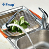 Modern Polished Chrome Brass Kitchen Faucet Pull Out Single Handle Swivel Spout Vessel Sink Mixer Tap