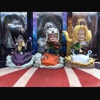 Naruto Anime Action Figures Toys Jiraiya Tsunade Orochimaru 10cm Models Dolls Christmas Gifts For Children Kids Comic Animation