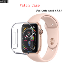 Silicone strap For Apple Watch band 42mm 38mm apple watch case 44mm 40mm 4 iwatch 5 3 2 Cover accessories
