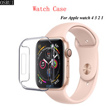 Correa de silicona para apple watch banda 42mm 38mm apple watch 44mm 40mm 4mm iwatch Correa caso 3 2 accesorios de apple watch(China)