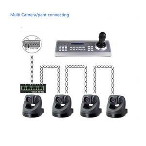 Image 5 - GZGMET 64 zestaw CCTV analogowa kamera sieciowa uchwyt Joystick DVR PTZ 3D RS485 prędkość kopuła pelco d/P kontroler kamery klawiatura
