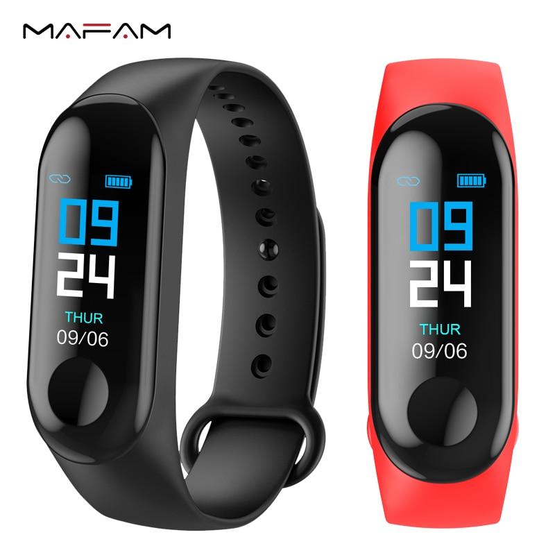 bac1e33d4 MAFAM ساعة ذكية الرجال النساء مراقب معدل ضربات القلب ضغط الدم جهاز تعقب  للياقة البدنية Smartwatch