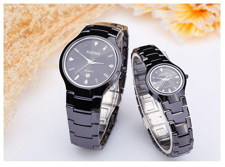 d9c10152cfc Moda dos homens de aço inoxidável relógio de pulso à prova d  água homem de  Negócios calendário relógios De Quartzo Diamante luxo marcas de relógios ...