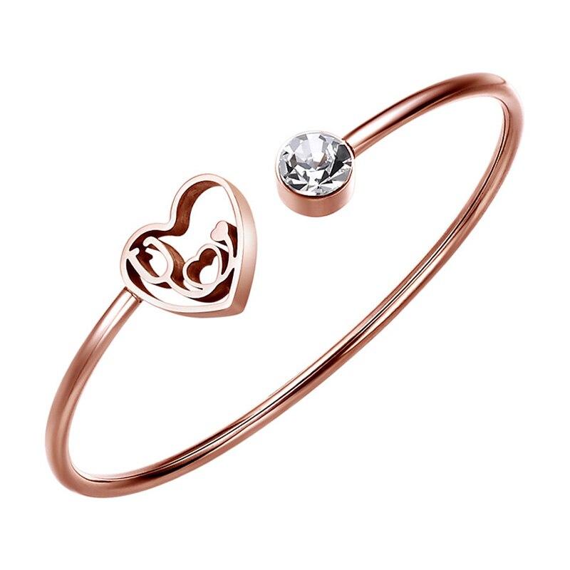 Heartbeat Stethoscope Carter Love Cuff Bracelet Bangle Stainless Steel Women Jewelry Valentine Day Gift for Her Wife Girlfriend