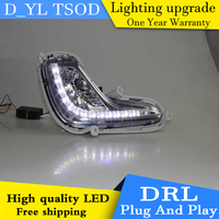 Car styling For Accent LED DRL For Accent led fog lamps daytime running lights High brightness guide LED DRL