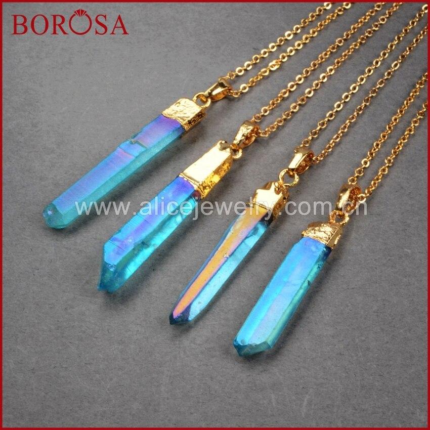 BOROSA 10PCS Druzy կախազարդ ոսկե գույն Titanium - Նորաձև զարդեր - Լուսանկար 5
