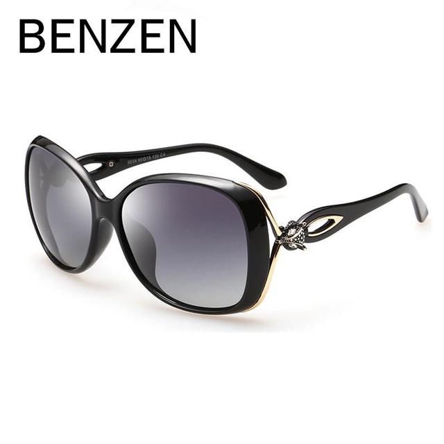 BENCENO gafas de Sol de Las Mujeres Polarizadas Gafas de Sol Femeninas De Conducción De Lujo Ladies Shades Accesorios Eyewear Con El Caso 6179