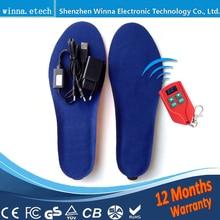 NUEVOS HOMBRES USB INSOLAS Calentador de Pie eléctrico Control Remoto Plantillas Térmicas 2000 mAh Hombres 41-46 # Comprar Directo de la Fábrica de China