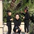 Checcivan Madre e Hija Ropa Exquisita de Tocar Fondo de Manga Larga Camisetas de Algodón Spandex Hijo Madre de Cuello redondo Trajes