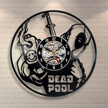 Deadpool Movie Vinyl Record Clock Home Design Room Art Decor Handmade Vintage LED with 7colors