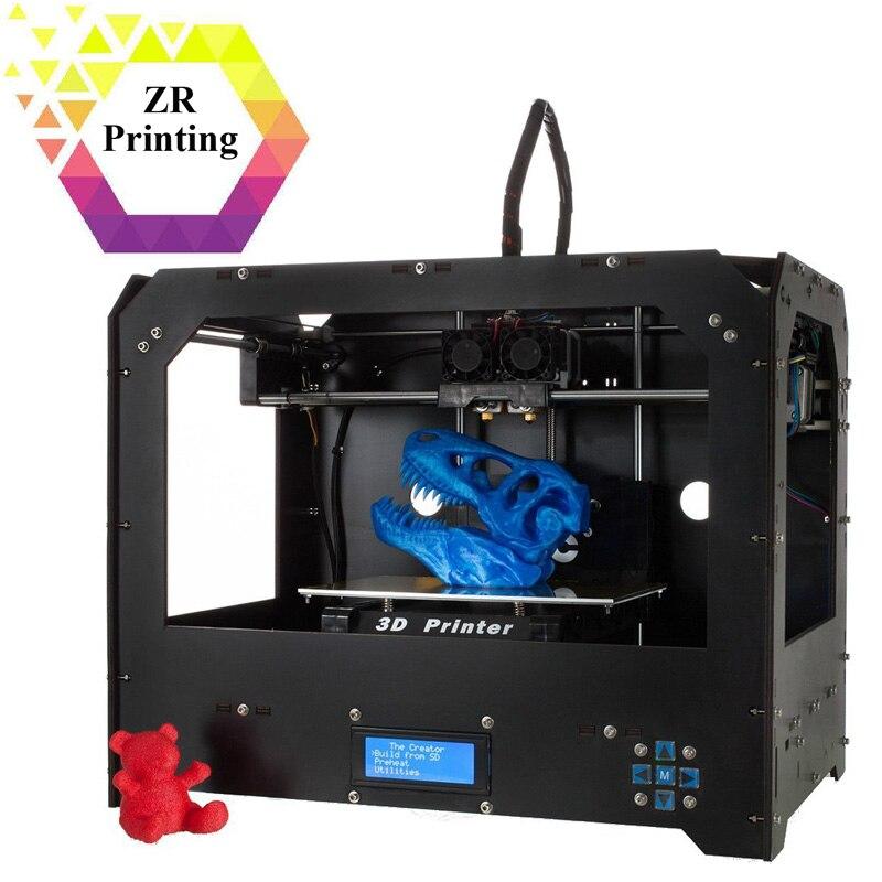 ZRPrinting 3D Printer FDM Model Assembled Two Nozzles Based on Makerbot Rep 3D Printer Double Sprinkler 1.75mm Filament недорго, оригинальная цена