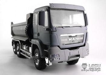LESU MAN 6*6 Front Cylinder Hydraulic Dumper Truck Tipper Tmy 1/14 RC Model TH02557
